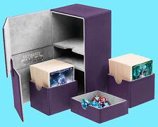 ULTIMATE GUARD TWIN FLIP n TRAY PURPLE 160+ XENOSKIN DECK CASE Standard Card Box