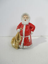 "Santa Claus Figurine Goebel Vintage West Germany Bag No Broom 4"" tall"