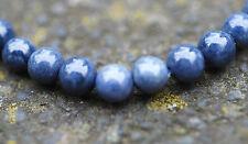 Sapphire glatte Kugeln 6 mm, 1 Strang Edelsteine Bacatus blau echt