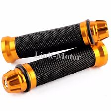 "GREY AND OTHER MOTORCYCLE UNIVERSAL HAND GRIPS FOR 7/8"" HANDLE BARS SPORTS BIKES"