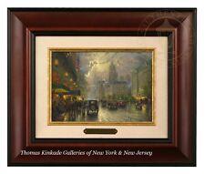 Thomas Kinkade New York Fifth Avenue - Brushwork (Burl Frame)