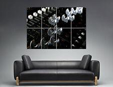 Dj Mixer Faders Table  Wall Art Poster Grand format A0 Large Print