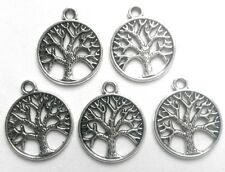 20 x Tibetan Silver Round Tree of Life Charms ( 20x22mm) for Necklace Bracelet