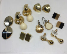 Lot Of 7 Vintage To New Gold Tone Pierced Earrings Untested Unbranded