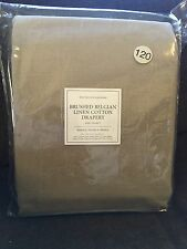 Restoration Hardware Brushed Belgian Linen Cotton Drapery 50x120 Flax Beige New!