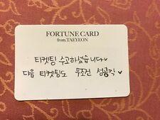 Girls Generation SNSD Taeyeon Fortune scratch card concert 's one kpop #29K