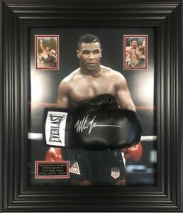 Mike Tyson Signed Glove Autographed Framed Dome Display Certificate