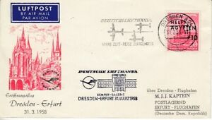 GDR First Flight Dresden - Erfurt 1958
