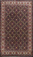 Vintage Traditional Geometric Area Rug Wool Hand-knotted Oriental Carpet 7x11