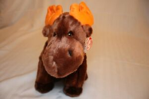 """TY Beanie Baby """"Beanie Buddies"""" Chocolate the Moose All Tags +Tag Protector 1999"""