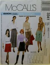 3341 McCall's Sewing Patterns For Misses' A-LINE Skirts in 5 Lengths Sizes 4-10