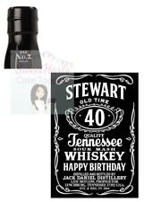JACK DANIELS PERSONALISED BOTTLE LABEL EDIBLE PRINTED ICING CAKE DECORATION