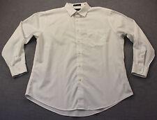 Nordstrom Mens Shop White Wrinkle Free Cotton Trim Fit Dress Shirt  16.5  32-33