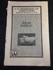 1927 US Dept of Agriculture Guide to Squab Raising Farmers Bulletin 684