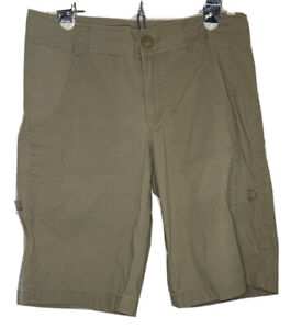 Nike ACG All Conditions Gear Women's Hiking Shorts Khaki Size 6 Roll Up Cuff