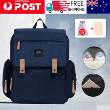 Luxury GENUINE LAND Multifunctional Baby Diaper Backpack Changing Bag Navy NEW