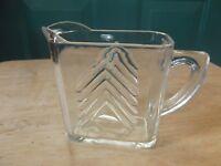 Hazel-Atlas Clear Glass Chevron Design Creamer
