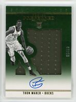 2016-17 Thon Maker 99/99 Auto Jersey Panini Preferred Rookie RC #25 Silhouettes