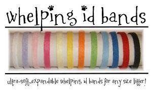 ID Bands Whelping Collars Puppy Kitten 12 Colors Pastel Bright Dark FLEECE STRIP