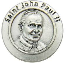 "MRT NEW Saint John Paul II Silver Plate Metal Pope Prayer Coin Gift 1 1/4"" Gift"
