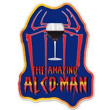 "The Amazing Alco-Man Alcohol car bumper sticker decal 6"" x 4"""