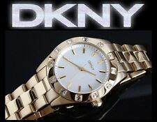 DKNY LADIE'S CRYSTALS LUXURY COLLECTION GOLD EDITION WATCH NY8661