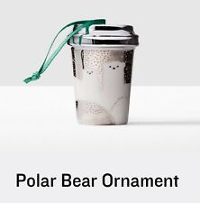 2016 STARBUCKS HOLIDAY / CHRISTMAS POLAR BEAR ORNAMENT *SOLD OUT EVERYWHERE*