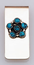 Native American Navajo Handmade Money Clip with Turquoise