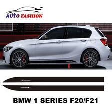 BMW 1 SERIES F20 F21 M Performance Side Skirt Sticker Matte Black UK Made M135