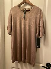 Men's Lululemon Beige Metal Vent Tech Short Sleeve Crewneck Shirt - Size Xxl/Nwt