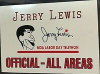 "JERRY LEWIS' PERSONALLY OWNED/USED/WORN MDA TELETHON ""CARICATURE"" ID BADGE!!!!!"