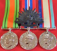 *WW2 NORTHERN AUSTRALIAN DEFENCE DARWIN MEDAL & BADGE GROUP REPLICA ANZAC*