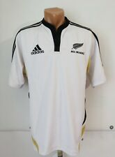 ALL BLACKS NEW ZEALAND 2009 ALTERNATE RUGBY SHIRT JERSEY ADIDAS WHITE VTG TOP M