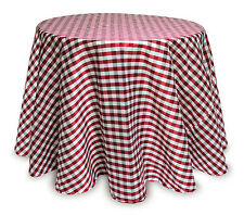 "Dupion Check Table Skirt 96""D Polyester"
