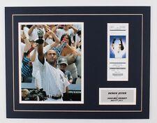 "Derek Jeter Yankees ""Actual 3000 Hit Ticket"" 14x18 Custom Matted Photo Display"
