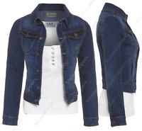 NEW DENIM JACKET Womens Jean Waist Jackets LADIES Waistcoat Size 8 10 12 14 16