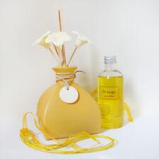 Diffuser / Lufterfrischer / Raumduft Keramik Blüten / Duftöl Orange pajoma