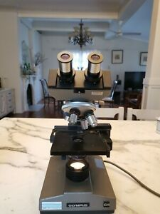 Olympus Microscope CHB 4 Objectives, Good Condition!