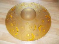 Degue France Art Deco Lampe Deckenlampe Lampenschirm Glas Durchmesser 44 cm
