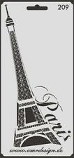 Scrapbook Stencil S-209  Paris ~ Craft ~ UMR-Design