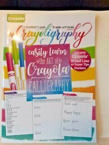 Crayola Crayoligraphy Beginner's Guide Hand Lettering Calligraphy Activity Book