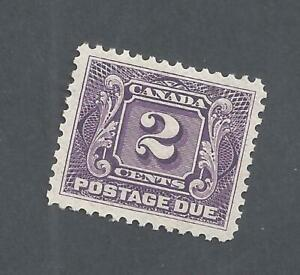 Canada POSTAGE DUE 2ct VIOLET THIN PAPER VARIETY SCOTT J2a VF MOGLH BS20556