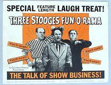 THREE STOOGES LOBBY CARD #1 FUN-O-RAMA, 1959 The Talk of Show Business