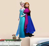 Frozen Elsa Anna Wall Stickers Decals Removable Art Decor Home Kids Room