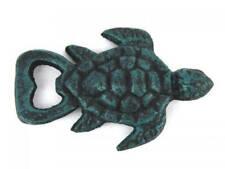 "New listing Seaworn Blue Cast Iron Turtle Bottle Opener 4.5"" - Antique Bottle Opener - Sea"