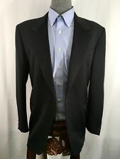Men's Canali Wool Black Single Button  coat  blazer Size 40 Made In IItaly