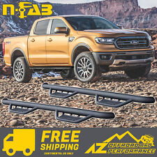 N-FAB Podium SS Side Steps For 18-20 Ford Ranger Crew Cab HPF1981CC-TX Black