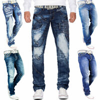 Herren Jeans Hosen Mens Pant Stright Slim Fit Cargo Jogging Clubwear Disco Dope