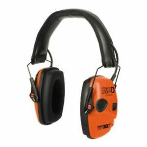 Howard Leight Impact Sport Bolt Orange Electronic Earmuff R-02231