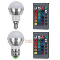 5W E27/E14 16 LED Color Changing Light Bulb RGB Spot Lights Remote Control Lamp